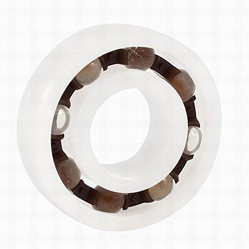 FemiaD POM Plastic Glass Deep Groove Radial Ball Bearing 6001 12 x 28 x 8mm