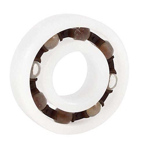 POM Plastic Glass Deep Groove Radial Ball Bearing 6001 12 x 28 x 8mm