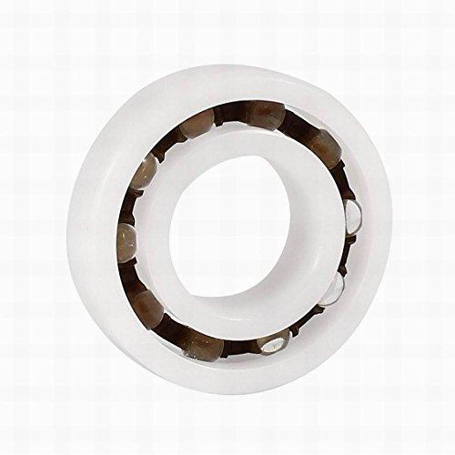 FemiaD POM Plastic Glass Deep Groove Radial Ball Bearing 6003 17x35x10mm