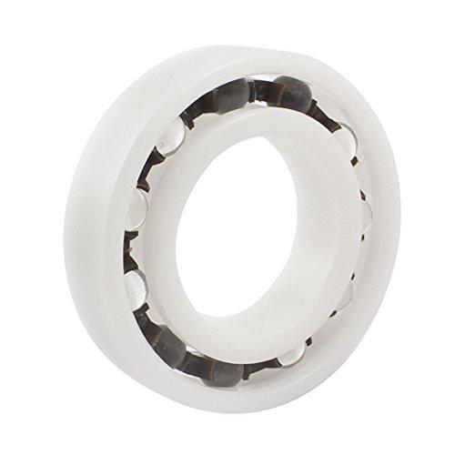 30mmx55mmx13mm White Plastic Single Row Deep Groove Ball Bearing 6006