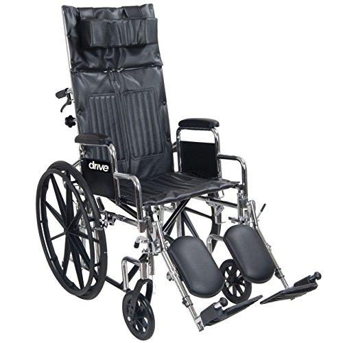 Chrome Sport Full-Reclining Wheelchair - 18 in w-Full Arms