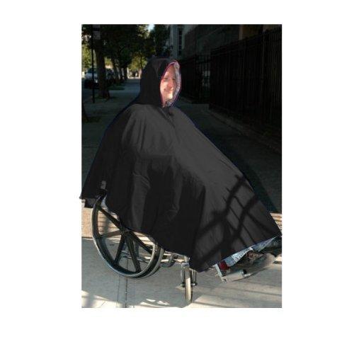 Wheelchair Winter Poncho-Unisex-Adult-Black