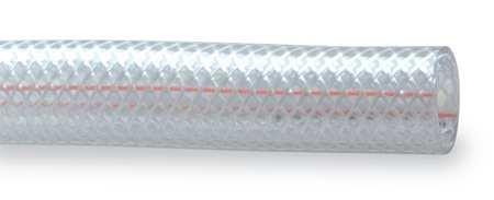 Kuriyama Braided Flexible Tubing Clear PVC 516 ID 0531 OD 250 PSI Max Pressure 100 Length