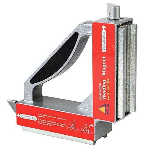 LISHUAI Double Switch Neodymium Welding MagnetsStrong NdFeB Magnetic ClampMagnet Holder 50Kgf WM2