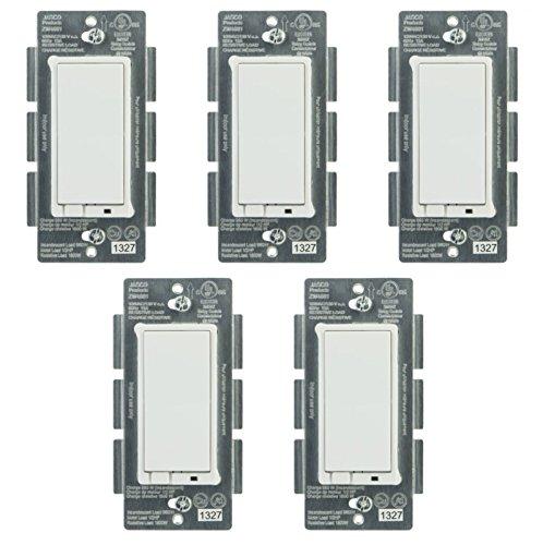 Jasco 45609 Z-Wave Wireless Lighting Control OnOff Switch 5-Pack