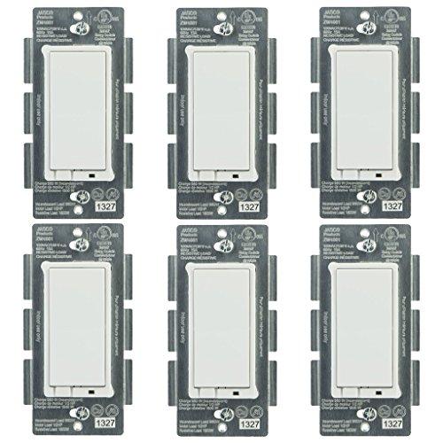 Jasco 45609 Z-Wave Wireless Lighting Control OnOff Switch 6-Pack