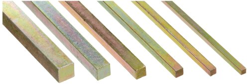 Steel Key Stock Assortment Gold Dichromate Finish Metric 12 Length Pack of 32