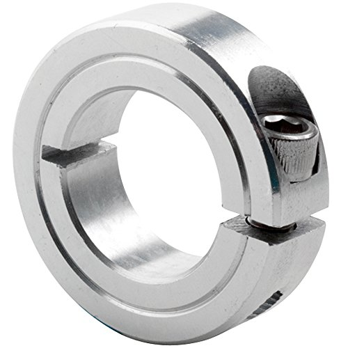 Climax Metals 1C-062-ZX10 One-Piece Clamping Collar Zinc Plating Steel 58 Bore 1-516 OD 716 Width Pack of 10