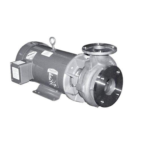 MP Pumps 37994 Chemflo 6 End Suction Centrifugal Pump 316 Stainless Steel Pedestal 46 Impeller Carbon Silicon Carbide SealEthylene Propylene Vertical Discharge 3 x 2