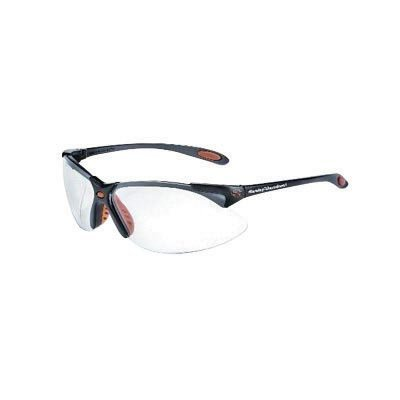 Uvex By Honeywell Harley-Davidson Safety Glasses With Black Polycarbonate Frame And Clear Polycarbonate Hard Coat Lens