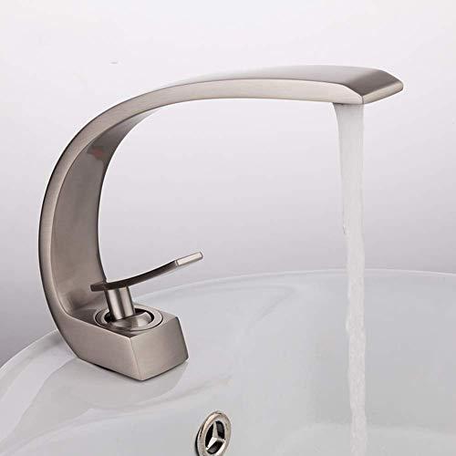 Beakjiful Bathroom Basin Mixer Tap Brass Chrome Brush Nickel Sink Mixer Faucet Hot And Cold Bathroom Sink Mixer Tap