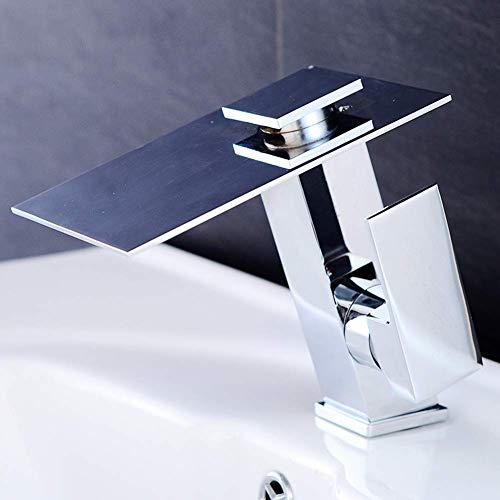 Beakjiful Bathroom Basin Mixer Tap Temperature-Controlled Color LED Water Faucet Single-Lift Bathroom Copper Faucet