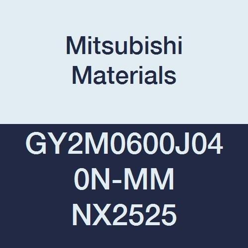 Mitsubishi Materials GY2M0600J040N-MM NX2525 Series GY Cermet Grooving Insert for Multifunctional and Medium Feeds 2 Teeth J Seat 0236 Grooving Width 0016 Corner Radius Pack of 10