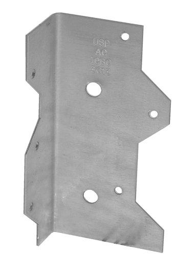 USP Structural Connectors AC7-TZ G185-Triple Zinc Galvanized Angle Clip 7-Inch