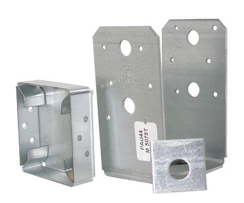 USP Structural Connectors PAU44-TZ G185-Triple Zinc Galvanized Post Base 4 by 4