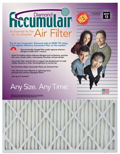14x30x1 13-12x29-12 Accumulair Diamond Filter MERV 13 4-Pack