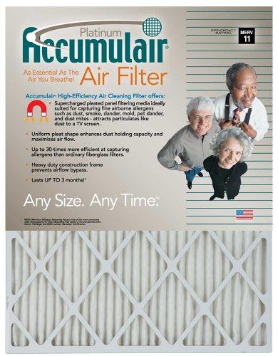 14x30x1 13-12x29-12 Accumulair Platinum Filter MERV 11 4-Pack