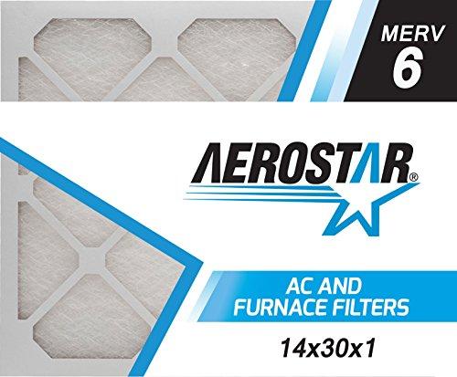 Aerostar 14x30x1 MERV 6 Fiberglass Air Filter 14x30x1 Box of 6 Made in the USA