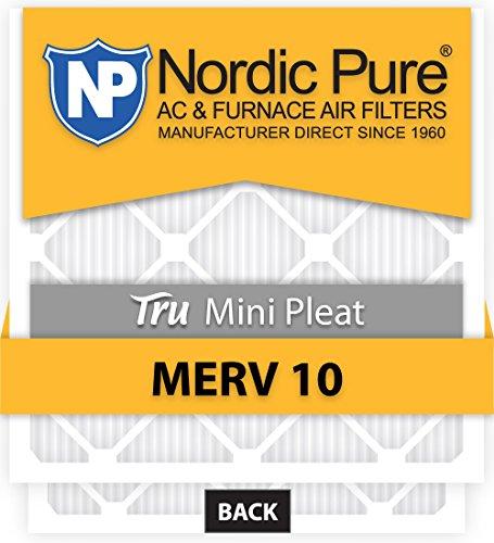 Nordic Pure 14x30x1M10MiniPleat-6 Mini Pleat MERV 10 AC Furnace Air Filters 14-Inch x 30-Inch x 1-Inch