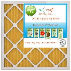 Bobby Dz 20X25X2 VP MERV 11 Pleated AC Furnace Air Filter Pack of 6 Filters