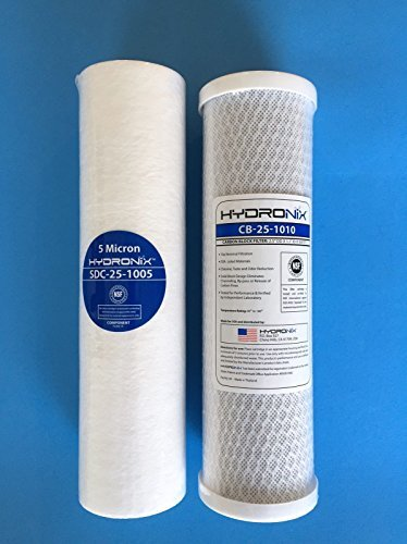 HYDRO-LOGIC REVERSE OSMOSIS STEALTH SMALL BOY 100 200 CARBON SEDIMENT FILTERS REPLACEMENT FILTER PACK NSF CERTIFIED