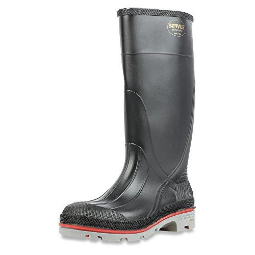 Servus XTP 15 PVC Chemical-Resistant Soft Toe Mens Work Boots Black Red Grey 75108
