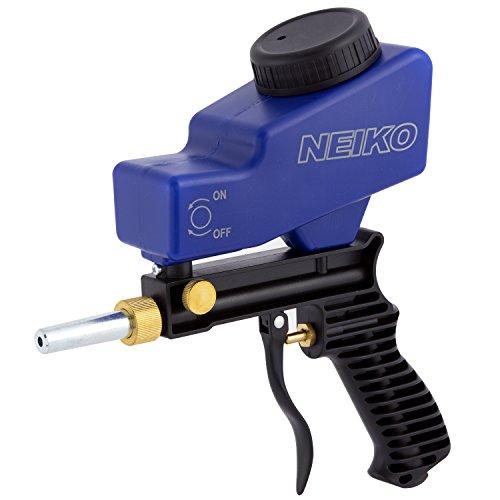 Neiko 30068A Abrasive Air Sand Blaster Gun  Replaceable Steel Nozzle  Gravity Feed Hopper