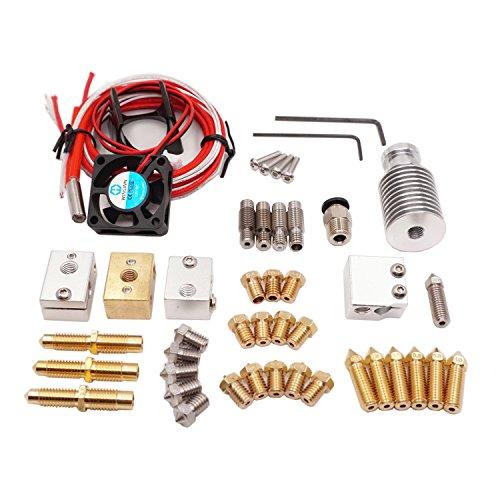 WINSINN 3D Printer J-head V6 Hotend Extruder Full Kit - High Speed Volcano upgrade  Sensor Copper heater block  Integrated  Copper Stainless steel Nozzle with 12V Fan For 175