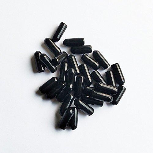 YEJI 25 Pcs 12 Black Screw Thread Protectors