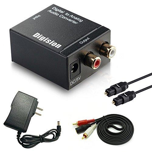 DIGISION Optical Digital to RCA LR Analog Audio Converter