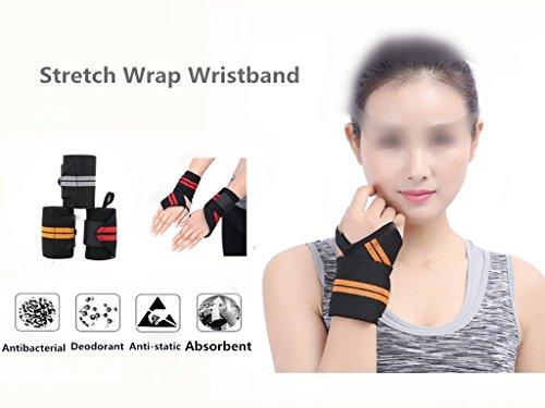 GOTOGOOD LatexPolyester Yarn Hand Wrist Braces-Black