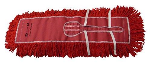 Golden Star AJU24CITR Jumbo Infinity Twist Dust Mop Head 5 x 24 Red Pack of 12