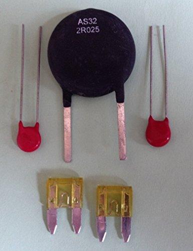 Aqua-Rite Repair Kit AS -Thermistor AS32 2R025 2x Varistor V150LA2P 2x 20A Fuses