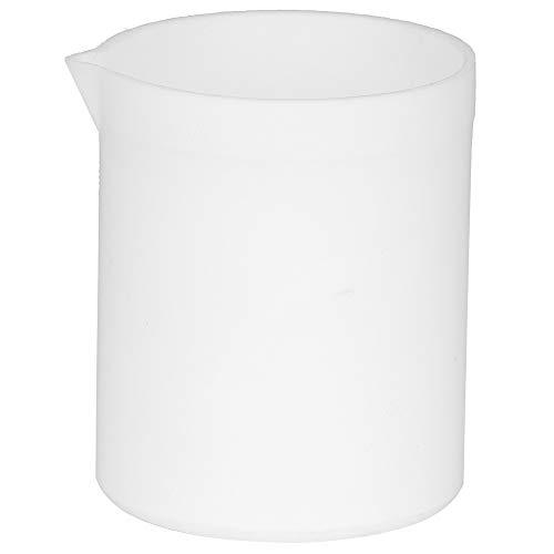 Beaker PTFE Teflon Beaker Acid and Alkali Resistant PTFE Beakers High Lubrication White Measuring Cup for Lab250ml