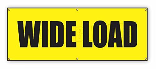 15 ft x 4 ft WIDE LOAD Vinyl Banner Wide Long Truck Safety Sign