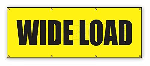 4 ft x 10 ft WIDE LOAD Vinyl Banner Wide Long Truck Safety Sign