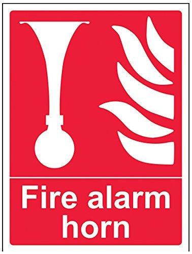 Fire Alarm Horn Equipment Sign20x25 CM Aluminum Sign By Leiacikl22