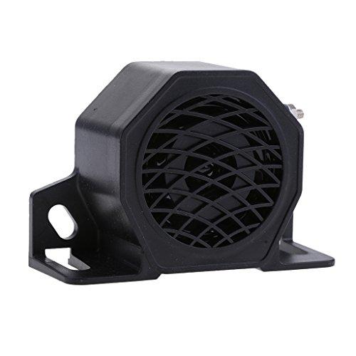 Univas- Waterproof Reverse Horn Loud Car Reversing Tone Horn Buzzer Alarm Siren Speaker 12-24V 30W 110Db Black