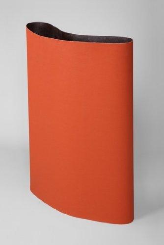 3M Cubitron 777F Coated Ceramic Orange Sanding Belt - Cloth Backing - YF Weight - P180 Grit - Very Fine - 37 in Width x 75 in Length - 67979 PRICE is per CASE