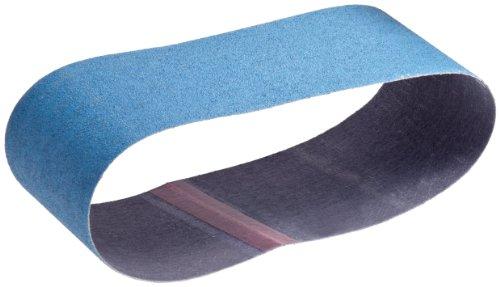 Norton NorZon Plus 3X Portable Abrasive Belt Cloth Backing Zirconia Alumina 3 Width 24 Length Grit 80 Pack of 5