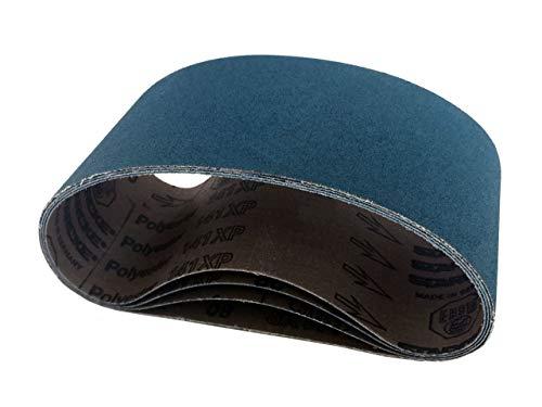 Sanding Belts 4 X 21-34 Zirconia Cloth Sander Belts 6 Pack 60 Grit