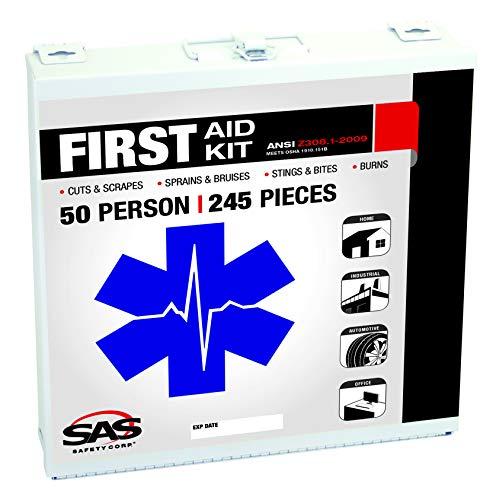 SAS Safety 6050-01 50-Person First-Aid Kit Metal Box