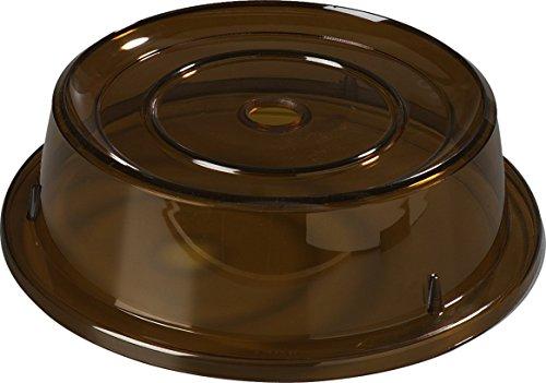 Carlisle 1989E13 Polycarbonate Plate Cover 106 Bottom Diameter x 3 Height Amber Case of 12