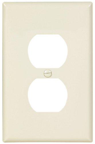 EATON Wiring PJ8LA Mid-Size Polycarbonate 1 Gang Duplex Receptacle Wallplate Light Almond