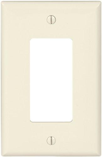 Eaton PJ26LA Mid-Size Polycarbonate 1-Gang Decorator GFCI Wallplate Light Almond
