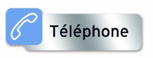 Symbol PSC7 Adhesive Polycarbonate Plate 160 x 50 mm Téléphone French Language