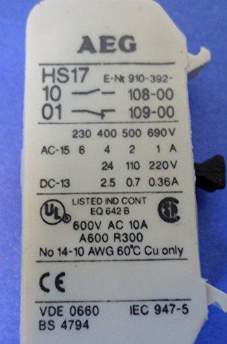 AEG HS17 AUXILIARY CONTACT NNB