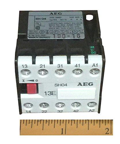 EEC SHO413E-OSW 190-16 AEG Mini Power Relay Coil 48V DC 1NO 3NC Poles