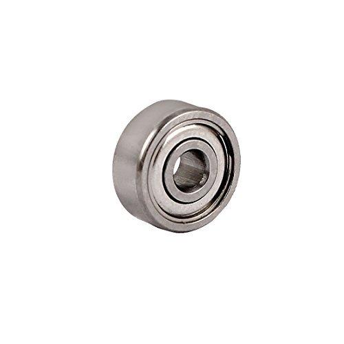DealMux ZZ623 10mmx3mmx4mm Dual Steel Shields Deep Groove Ball Bearing 2pcs