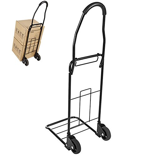 Kaluo 110lbs Portable Folding Dolly Hand Truck with 2 Wheels US STOCK Black